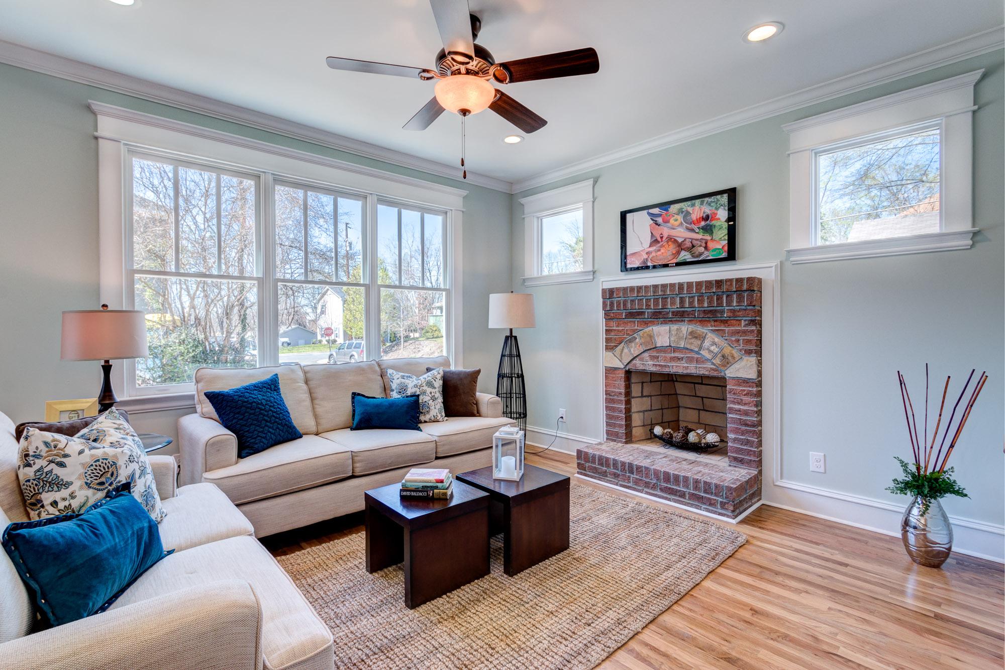 Brick Fireplace Living Room