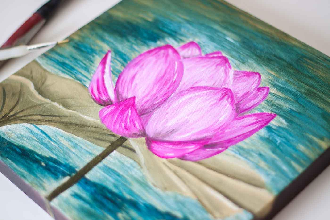 Pink-Lotus-Flower-Painting-2190