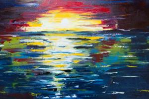 Vivid Sunset Painting_2432