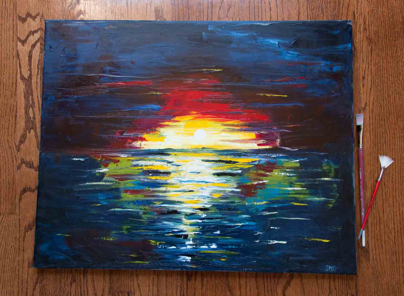 Vivid Sunset Painting_2436