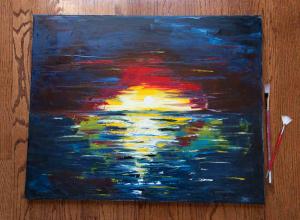 Vivid Sunset Painting_2436
