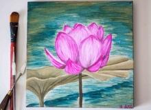 Pink-Lotus-Flower-Painting-2188