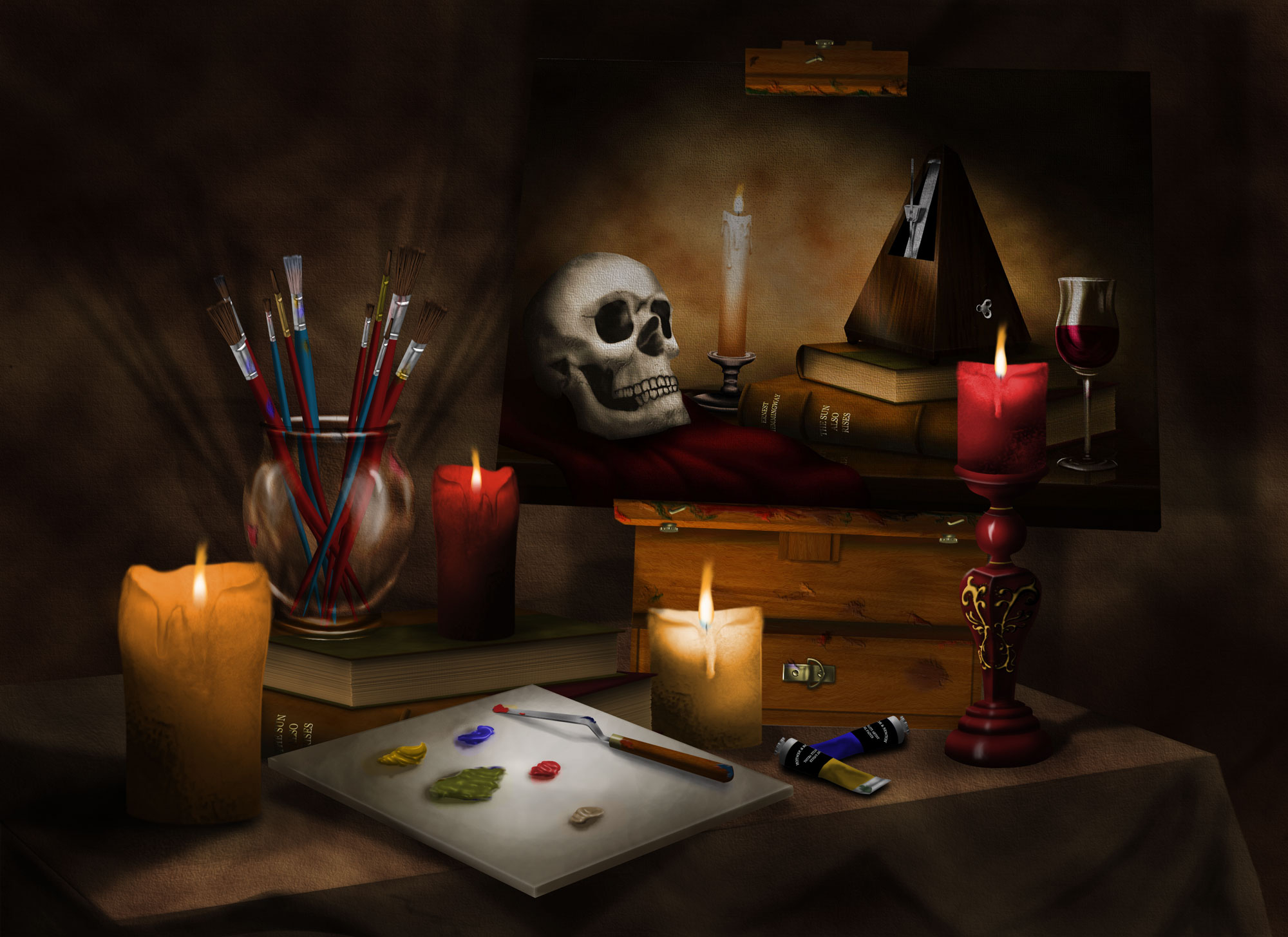 Artist-Still-Life-Digital Painting