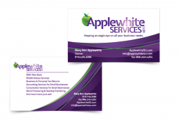 Business Card Front Back Applewhite