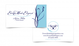 Business Card Front Back Events Made Elegant