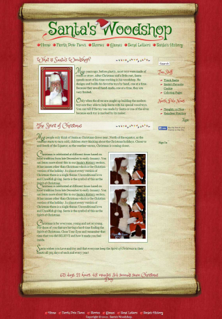 Website Design Santas Woodshop