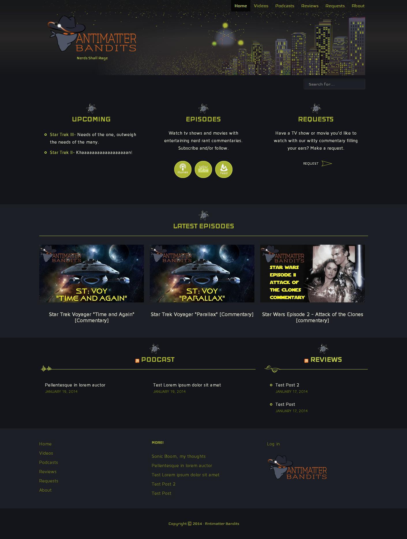 Website Design antimatterbandits