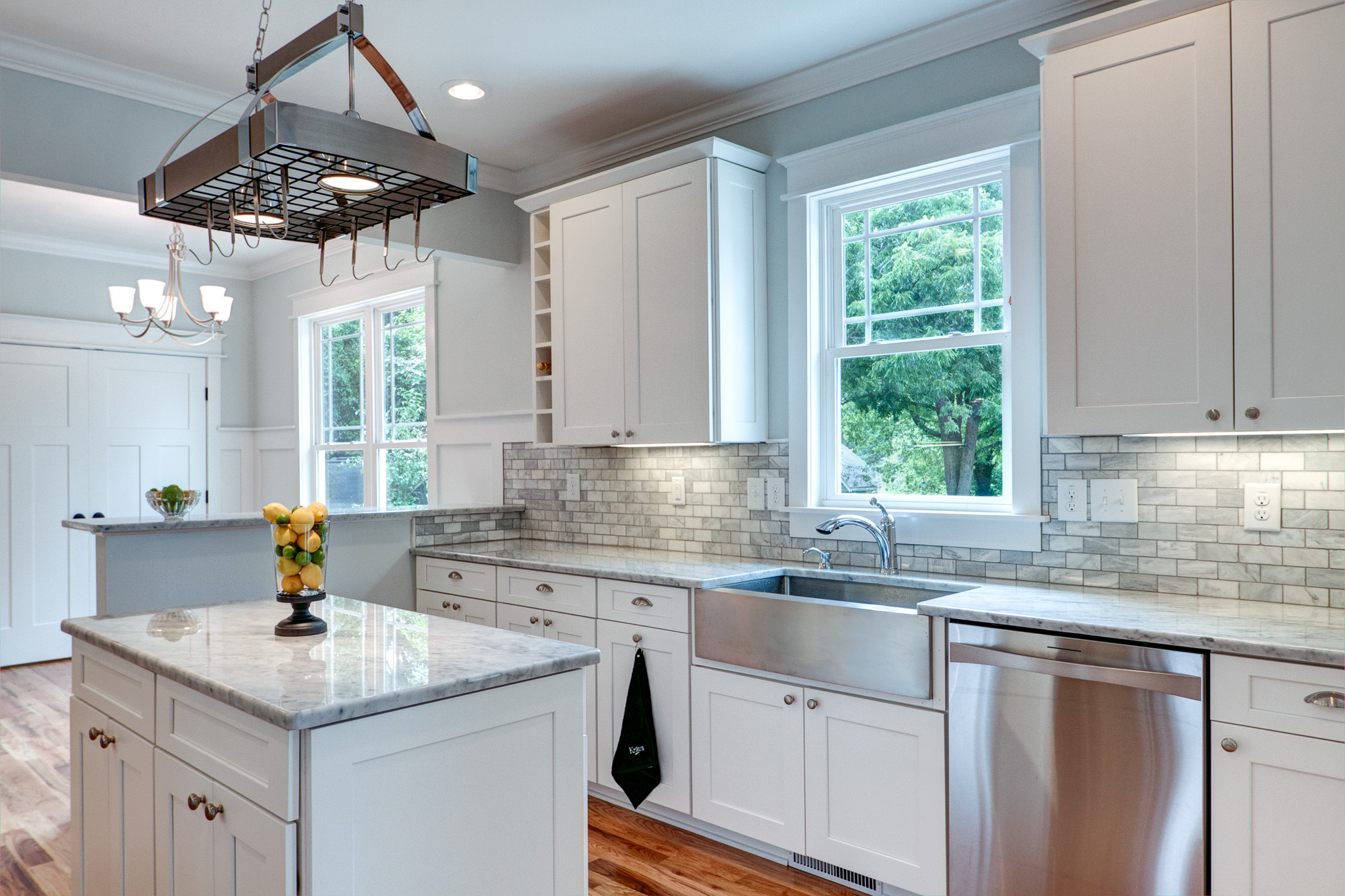Contemporary White Kitchen Real Estate Photography